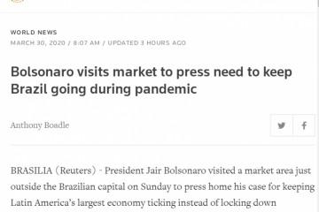 巴西总统拜访商场与小贩攀谈被推特删去相关视频