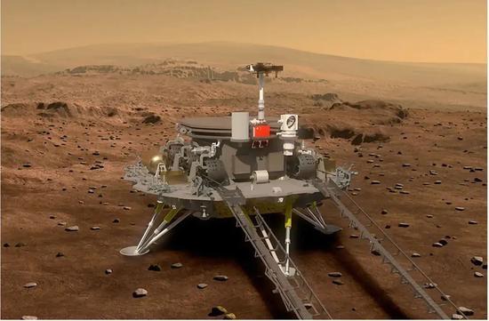 登陆火星的祝融号将史无前例地一次性完三大任务
